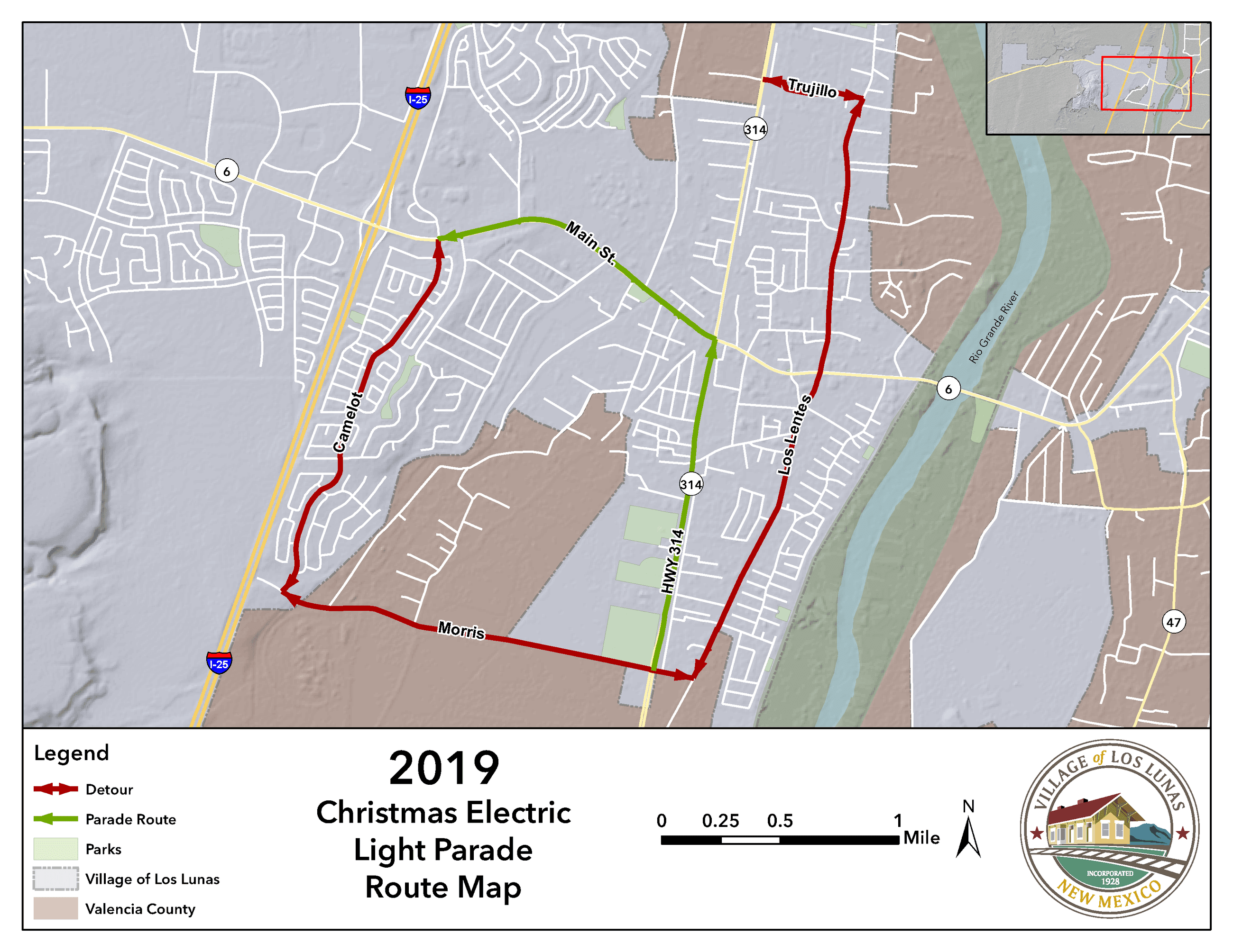 2019_Christmas_Electric_Light_Parade_Route_Map