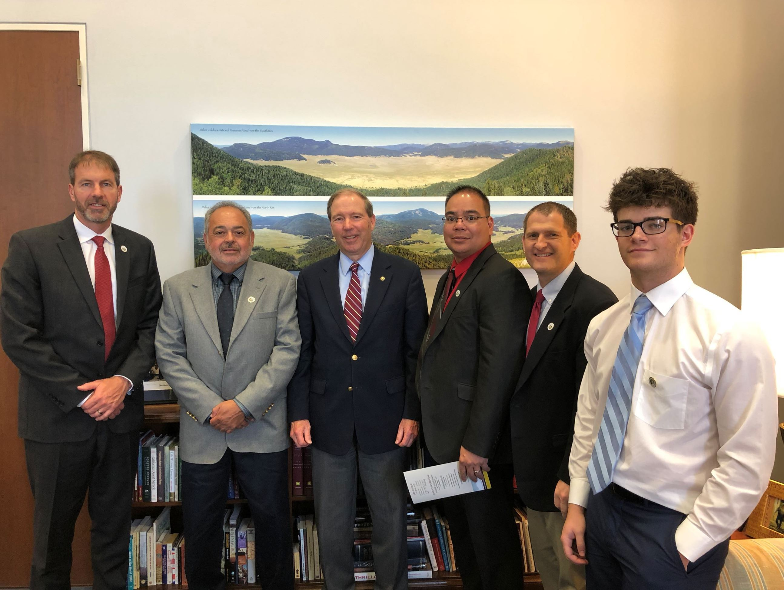 2018 Congressional Visit with Sen. Tom Udall, Sen. Martin Heinrich and Rep. Steve Pearce, April 19,